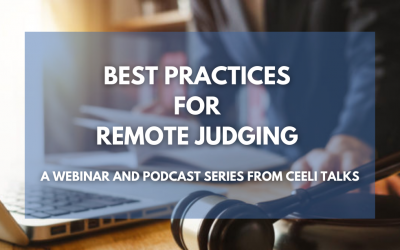 Remote Judging – a Webinar and Podcast Series