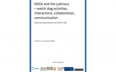 NGO's AS JUDICIAL WATCHDOGS: A NEW REPORT AND RECOMMENDATIONS